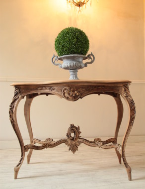 Louis XV Carved Walnut French Console
