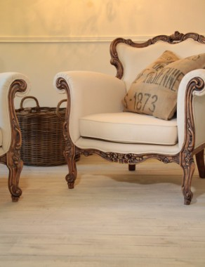 Stunning pair of French Baroque Armchairs